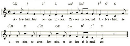 bladmuziek Abraham had zeven zonen