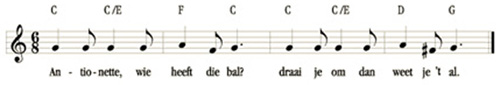 bladmuziek Antoinette heeft de bal