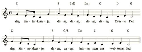 bladmuziek Dag Sinterklaasje