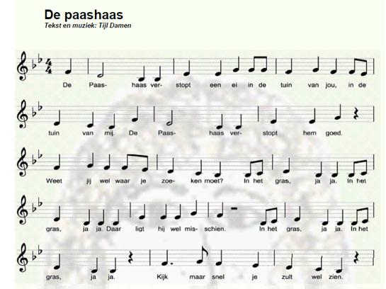 bladmuziek de paashaas