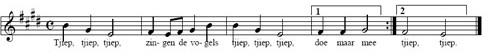 bladmuziek dierengeluiden