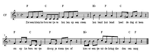 bladmuziek Er zat een klein zigeunermeisje