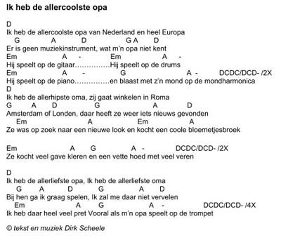 Verrassend Kinderliedje Ik heb de allercoolste opa (Dirk Scheele) BF-85