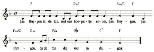 bladmuziek Jan Huygen in de ton