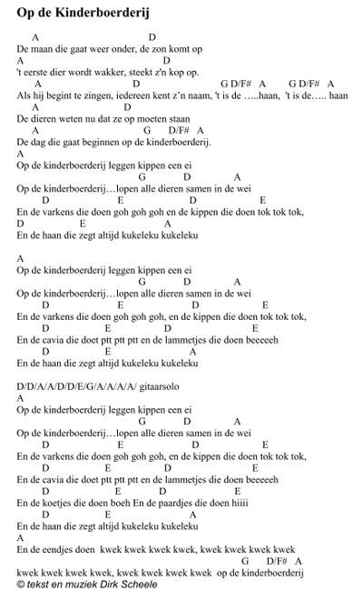 Kleurplaat Jonge Dieren Kinderliedje Op De Kinderboerderij Dirk Scheele