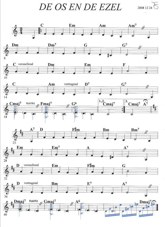 bladmuziek os ezel