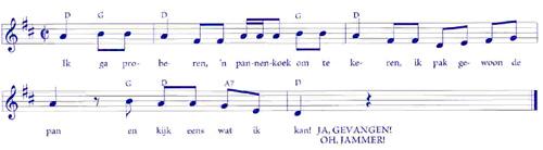 bladmuziek pannenkoek