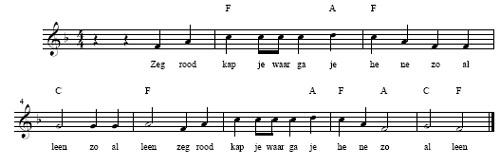 bladmuziek roodkapje