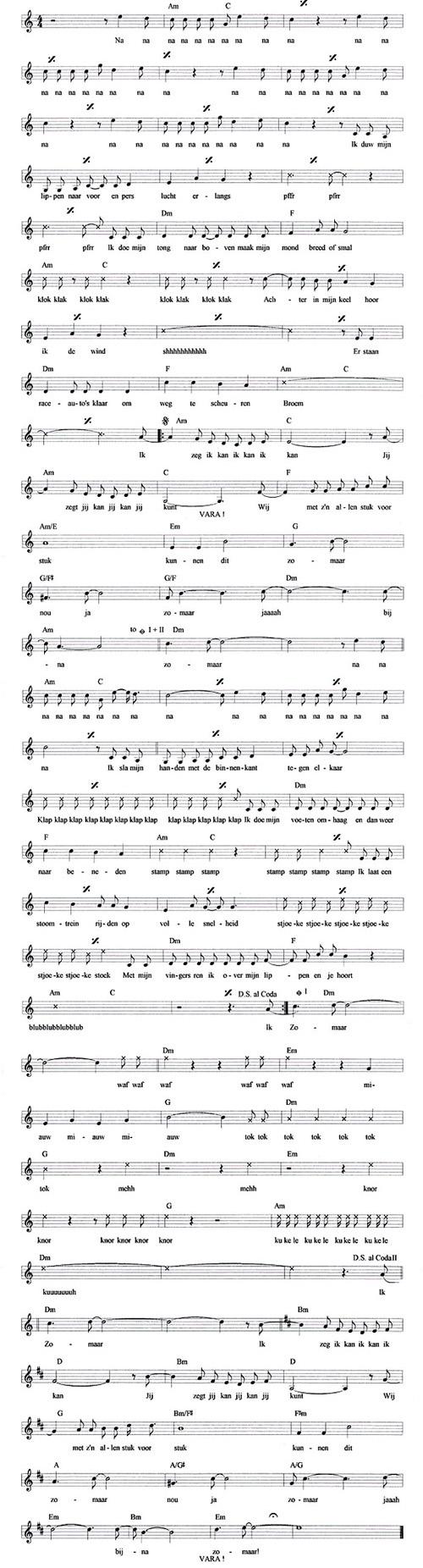 bladmuziek zomaar