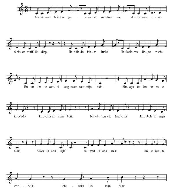 bladmuziek Lentekriebels
