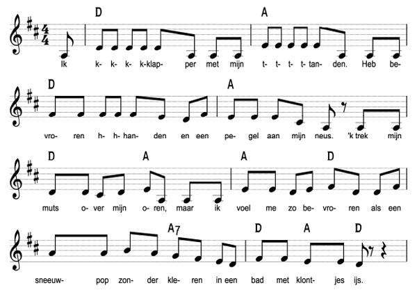 bladmuziek van kkkoud